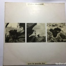 Discos de vinilo: DISCO VINILO LP VICTOR MANUEL - QUE TE PUEDO DAR. Lote 198825612