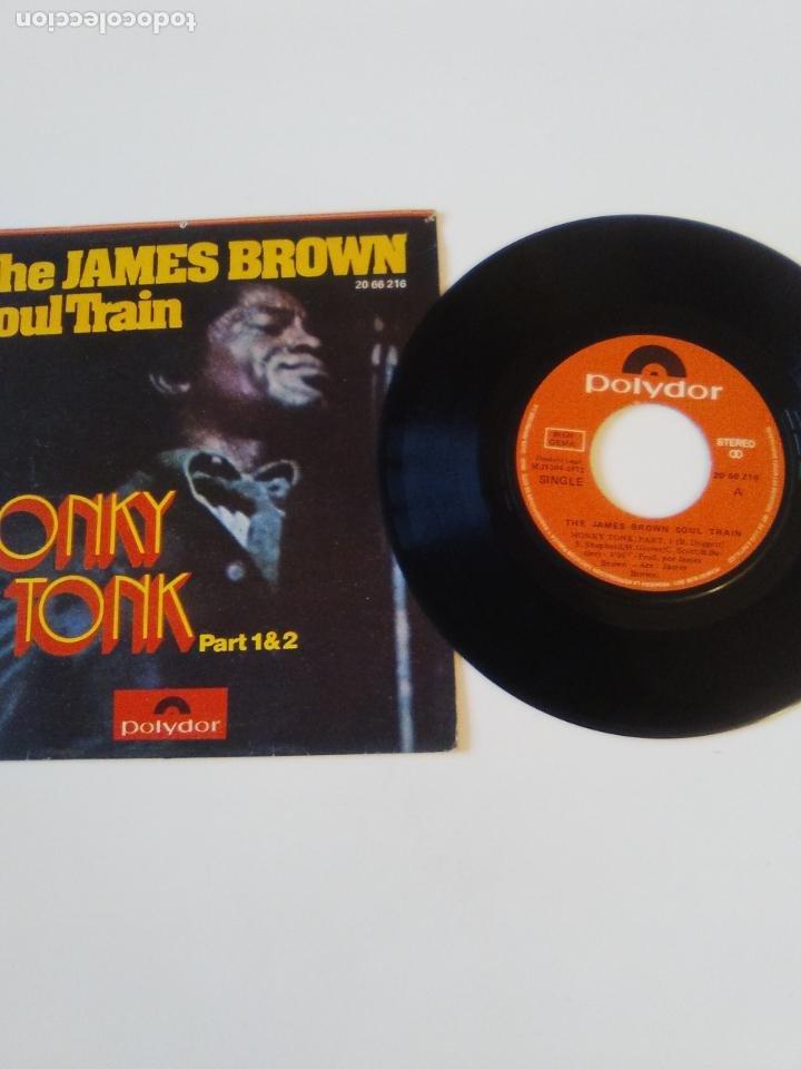Discos de vinilo: THE JAMES BROWN SOUL TRAIN Honky tonk part 1 & 2 ( 1972 POLYDOR ESPAÑA ) - Foto 3 - 198828796