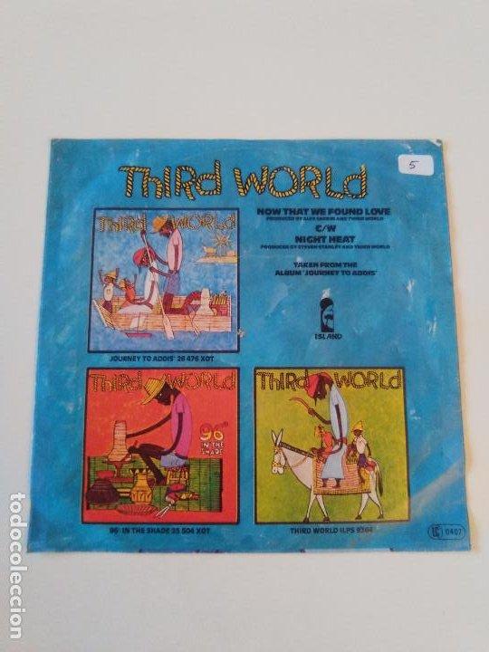 Discos de vinilo: THIRD WORLD Now that we found love / Night heat ( 1978 ISLAND GERMANY ) - Foto 2 - 198829612
