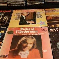 Discos de vinilo: LOTE N1 2 9 LPS RICARD CLAYDERMAN ORQUESTA Y PIANO. Lote 198831506