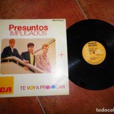 Discos de vinilo: PRESUNTOS IMPLICADOS TE VOY A PROVOCAR MAXI SINGLE VINILO DEL AÑO 1985 CONTIENE 2 TEMAS. Lote 198833366