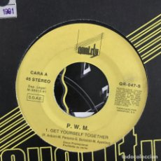 Discos de vinilo: P.W.M. - GET YOURSELF TOGETHER - SINGLE QUAOITY SPAIN 1991 PROMO UNA CARA. Lote 198837263
