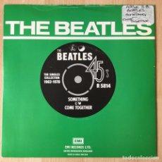 Discos de vinilo: THE BEATLES ?– SOMETHING / COME TOGETHER, UK 1976 PARLOPHONE. Lote 198840236