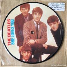 Discos de vinilo: THE BEATLES – SHE LOVES YOU, UK 1983 EMI. Lote 198843843