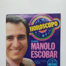 Discos de vinilo: MANOLO ESCOBAR - HORÓSCOPO. SINGLE. TDKDS20. Lote 198846780
