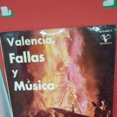 Discos de vinilo: BANDA PRIMITIVA DE LIRIA.'VALENCIA,FALLAS Y MÚSICA' 1962. Lote 198847313