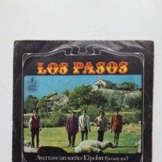 Discos de vinilo: LOS PASOS. AYER TUVE UN SUEÑO / EL POBRE. SINGLE. TDKDS20. Lote 198847348