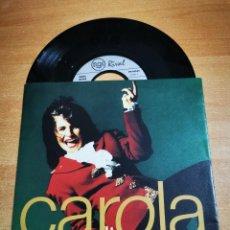 Discos de vinilo: CAROLA CAPTURED BY A LOVESTORM SINGLE VINILO ALEMANIA AÑO 1991 EUROVISION SUECIA 1991 MUY RARO. Lote 198847420