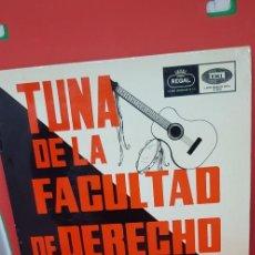 Discos de vinilo: TUNA DE LA FACULTAD DE DERECHO DE BARCELONA 1965. Lote 198847445
