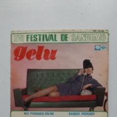 Discos de vinilo: GELU. XVII FESTIVAL DE SANREMO. SINGLE. TDKDS20. Lote 198847600
