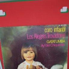 Discos de vinilo: CORO INFANTIL LOS ALEGRES TROVADORES.'GATATUMBA' POLYDOR. Lote 198847750