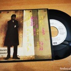 Discos de vinilo: FRANCO BATTIATO LOS TRENES DE TOZEUR SINGLE VINILO PROMO ESPAÑA 1985 EUROVISION ITALIA 1984 MUY RARO. Lote 198848888