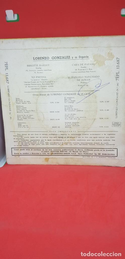 Discos de vinilo: LORENZO GONZÁLEZ Y SU ORQUESTA. EP 1961 - Foto 2 - 198849755