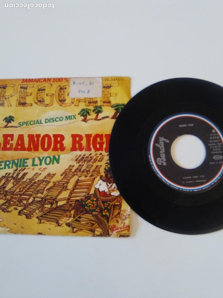 Discos de vinilo: BERNIE LYON Eleanor Rigby / Babilonia is not a dream ( 1979 BARCLAY MOVIEPLAY ESPAÑA ) - Foto 3 - 198853303
