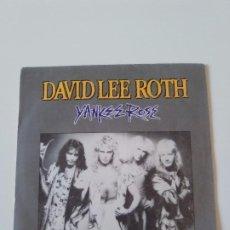 Discos de vinilo: DAVID LEE ROTH YANKEE ROSE / SHYBOY ( 1986 WARNER ESPAÑA ) VAN HALEN STEVE VAI. Lote 198854107