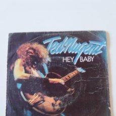 Discos de vinilo: TED NUGENT HEY BABY / STORMTROOPIN ( 1976 EPIC ESPAÑA ). Lote 198854287
