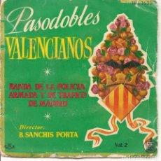 Discos de vinilo: BANDA DE LA POLICIA ARMADA Y DE TRAFICO,PASODOBLES VALENCIANOS VOL.2 DEL 68. Lote 198865835