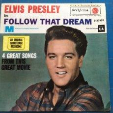 Discos de vinilo: ELVIS PRESLEY - FOLLOW THAT DREAM (EP) (RCA VICTOR) 3-20355 (D:NM). Lote 198877490