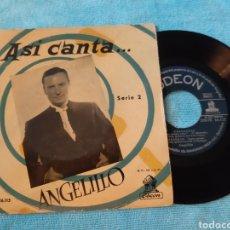 Discos de vinilo: MUY DIFICIL. ASI CANTA ANGELILLO. SERIE 2. ODEON. 1958 DSOE 16.115. Lote 198881063