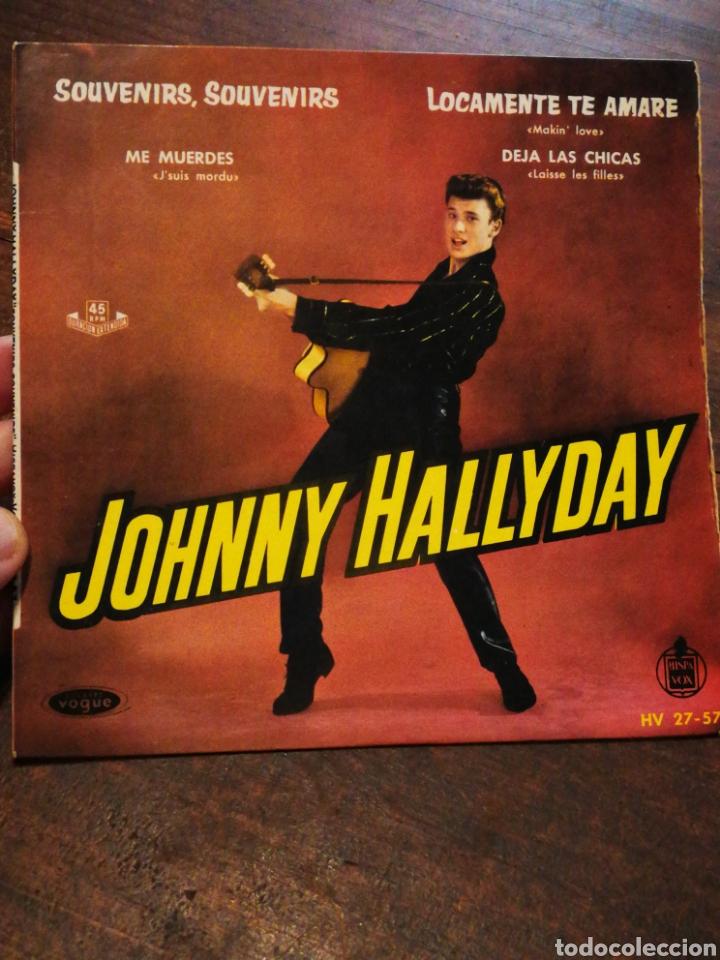 Discos de vinilo: JOHNNY HALLYDAY- SOUVENIR, SOUVENIR +3 EPs(HV 27-57), EDICIÓN ESPAÑOLA. 1960.MUY RARO!!!. - Foto 3 - 198894957