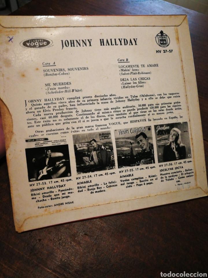 Discos de vinilo: JOHNNY HALLYDAY- SOUVENIR, SOUVENIR +3 EPs(HV 27-57), EDICIÓN ESPAÑOLA. 1960.MUY RARO!!!. - Foto 4 - 198894957