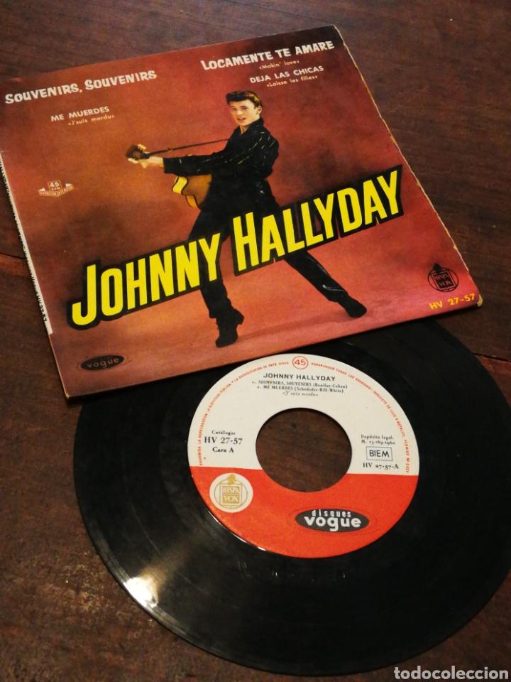 JOHNNY HALLYDAY- SOUVENIR, SOUVENIR +3 EP'S(HV 27-57), EDICIÓN ESPAÑOLA. 1960.MUY RARO!!!. (Música - Discos de Vinilo - EPs - Canción Francesa e Italiana)