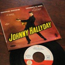 Discos de vinilo: JOHNNY HALLYDAY- SOUVENIR, SOUVENIR +3 EP'S(HV 27-57), EDICIÓN ESPAÑOLA. 1960.MUY RARO!!!.. Lote 198894957