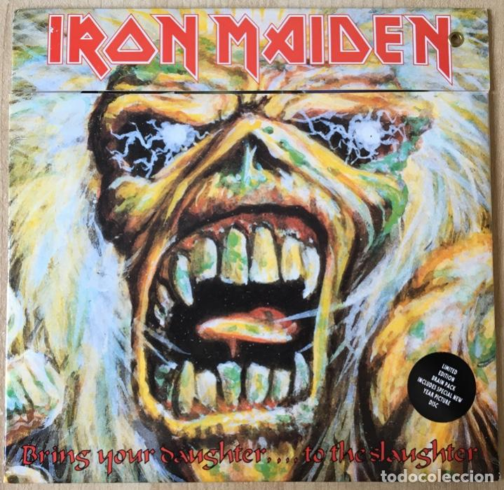IRON MAIDEN – BRING YOUR DAUGHTER... TO THE SLAUGHTER, LTD ED. PIC DISC, UK 1990 EMI (Música - Discos - Singles Vinilo - Heavy - Metal)