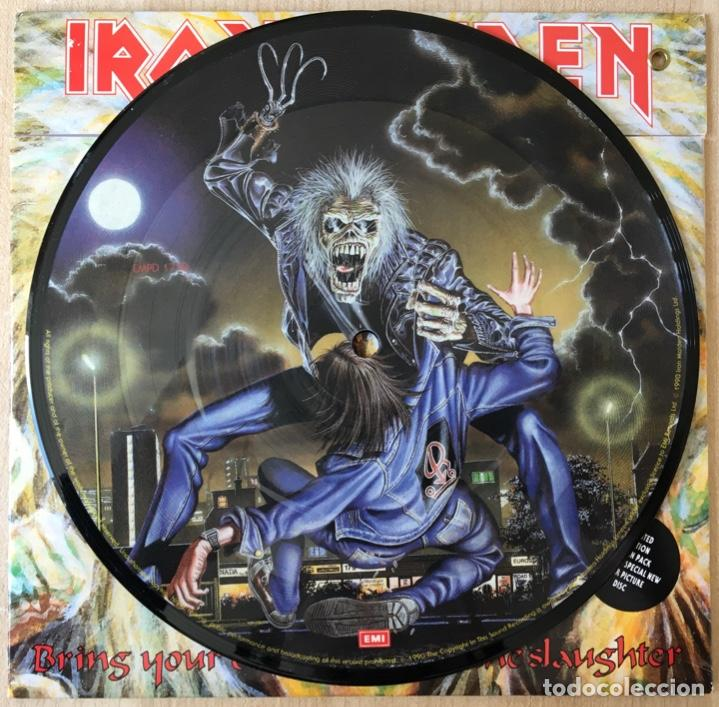 Discos de vinilo: Iron Maiden – Bring Your Daughter... To The Slaughter, Ltd Ed. Pic Disc, UK 1990 EMI - Foto 3 - 198901618