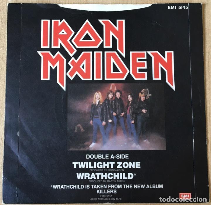 Discos de vinilo: Iron Maiden – Twilight Zone / Wrathchild, Rojo, UK 1981 EMI - Foto 2 - 198901916