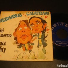 Disques de vinyle: HERMANOS CALATRAVA SINGLE 45 RPM SPACE ODDITY DAVID BOWIE BELTER ESPAÑA 1974. Lote 198907415