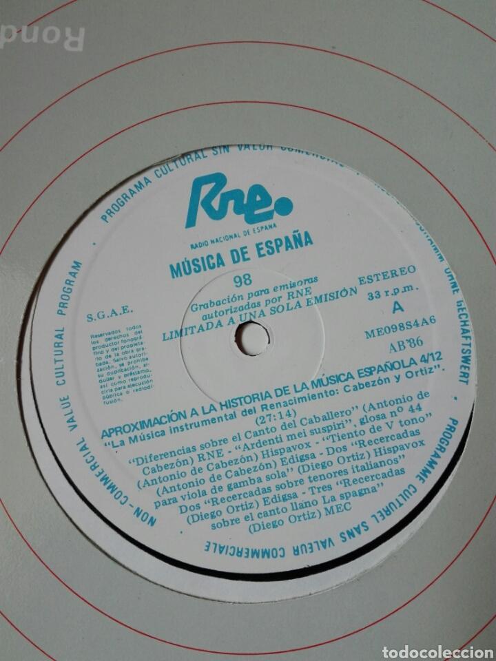 Discos de vinilo: 13 LP TRANSCRIPCIONES DE RNE CON MÚSICA DE ESPAÑA lp col completa Aproximación a la historia musica - Foto 6 - 198909817