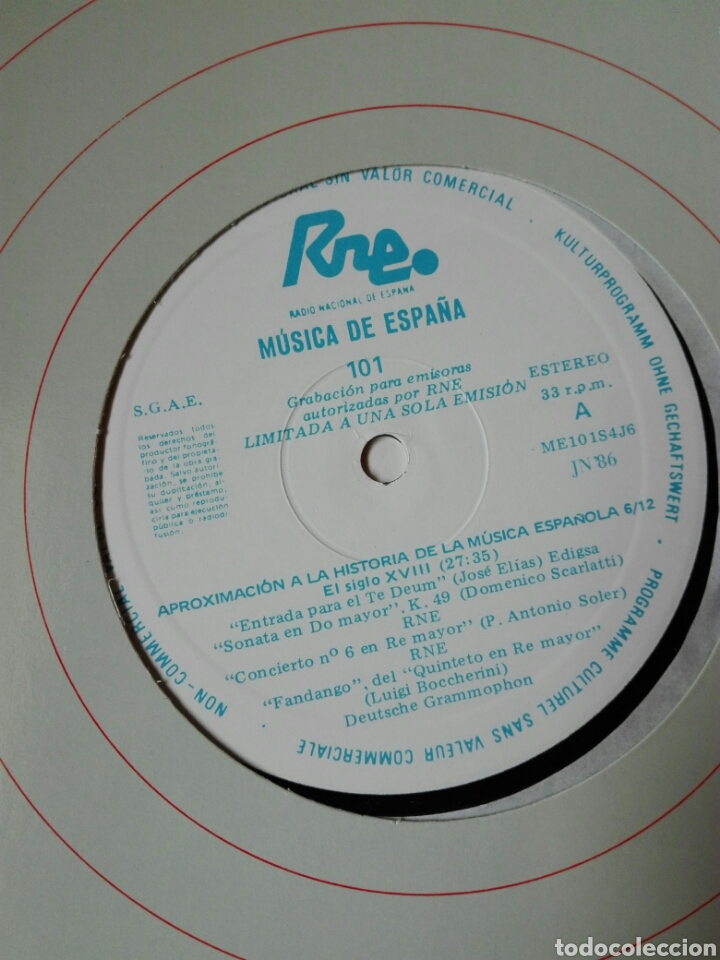 Discos de vinilo: 13 LP TRANSCRIPCIONES DE RNE CON MÚSICA DE ESPAÑA lp col completa Aproximación a la historia musica - Foto 8 - 198909817