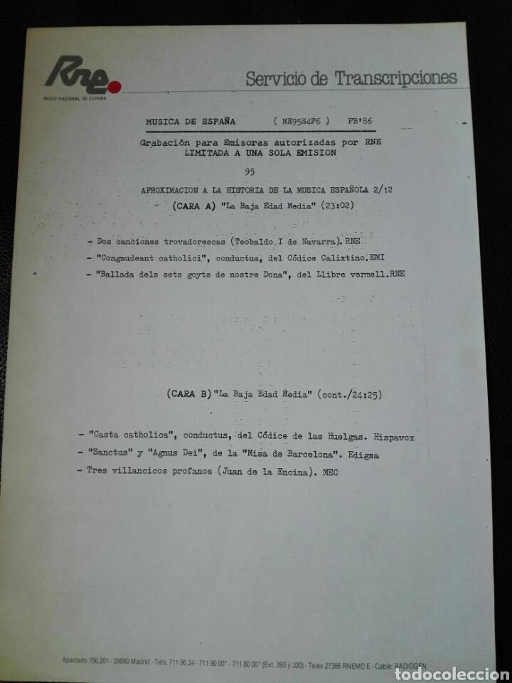 Discos de vinilo: 13 LP TRANSCRIPCIONES DE RNE CON MÚSICA DE ESPAÑA lp col completa Aproximación a la historia musica - Foto 12 - 198909817