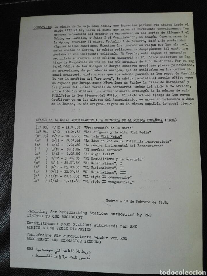 Discos de vinilo: 13 LP TRANSCRIPCIONES DE RNE CON MÚSICA DE ESPAÑA lp col completa Aproximación a la historia musica - Foto 13 - 198909817