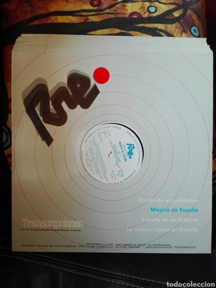 13 LP TRANSCRIPCIONES DE RNE CON MÚSICA DE ESPAÑA LP COL COMPLETA APROXIMACIÓN A LA HISTORIA MUSICA (Música - Discos - LP Vinilo - Flamenco, Canción española y Cuplé)
