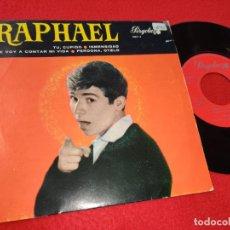 Discos de vinil: RAPHAEL TU CUPIDO/INMENSIDAD/TE VOY A CONTAR MI VIDA/PERDONA OTELO EP 1966 PERGOLA. Lote 198916870