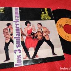 Discos de vinilo: LOS 3 SUDAMERICANOS CORAZON/SI TUVIERA UN MARTILLO/TONY/EL BAILE DEL MATTONE EP 1963 CBS. Lote 198921196