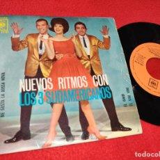 Discos de vinilo: LOS 3 SUDAMERICANOS EL PARTIDO DE FUTBOL/ME GUSTA LA BOSSA NOVA/EL BIMBI +1 EP 1963 CBS. Lote 198922176