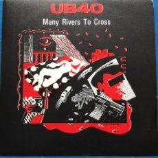 Discos de vinilo: UB40 - MANY RIVERS TO CROSS (SINGLE) (VIRGIN, DEP INTERNATIONAL) A-106.016 (D:NM). Lote 198923362