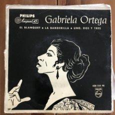 Discos de vinilo: GABRIELA ORTEGA - EL BLANQUET / LA BANDERILLA - 7'' EP PHILIPS 1962. Lote 198930055