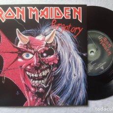 Discos de vinilo: IRON MAIDEN - PURGATORY / GENGHIS KHAN - SINGLE REEDICION 2014 - PARLOPHONE. Lote 198933063