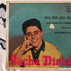 Discos de vinilo: SACHA DISTEL CON CLAUDE BOLLING Y SU ORQUESTA* – OUI, OUI, OUI, OUI SELLO: PHILIPS – 432 375 BE FO. Lote 198935115