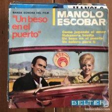 Discos de vinilo: MANOLO ESCOBAR - COMO JUGANDO AL AMOR - EP BELTER 1966 - DE 'UN BESO EN EL PUERTO'. Lote 198936686