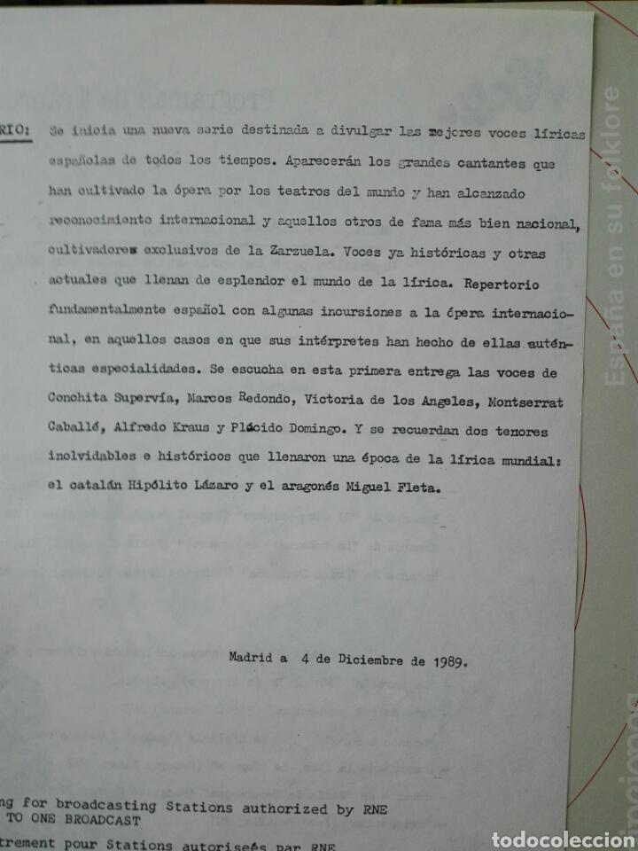 Discos de vinilo: Voces líricas españolas. 13 lp.LP TRANSCRIPCIONES DE RNE CON MÚSICA DE ESPAÑA. 1990. Ópera. Zarzuela - Foto 3 - 198944067