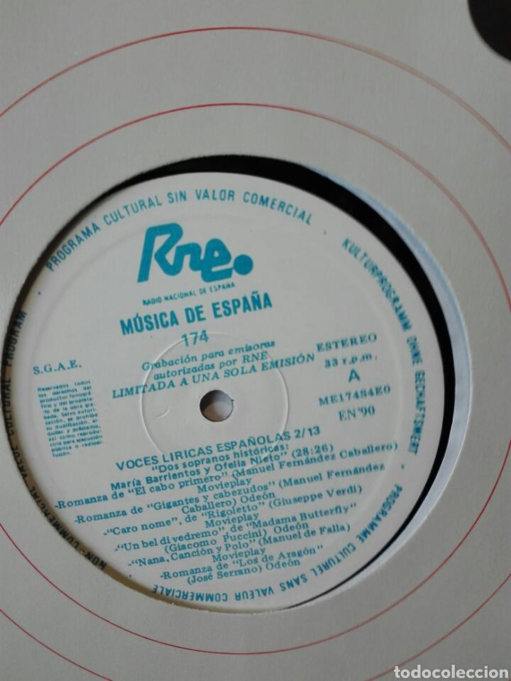 Discos de vinilo: Voces líricas españolas. 13 lp.LP TRANSCRIPCIONES DE RNE CON MÚSICA DE ESPAÑA. 1990. Ópera. Zarzuela - Foto 4 - 198944067
