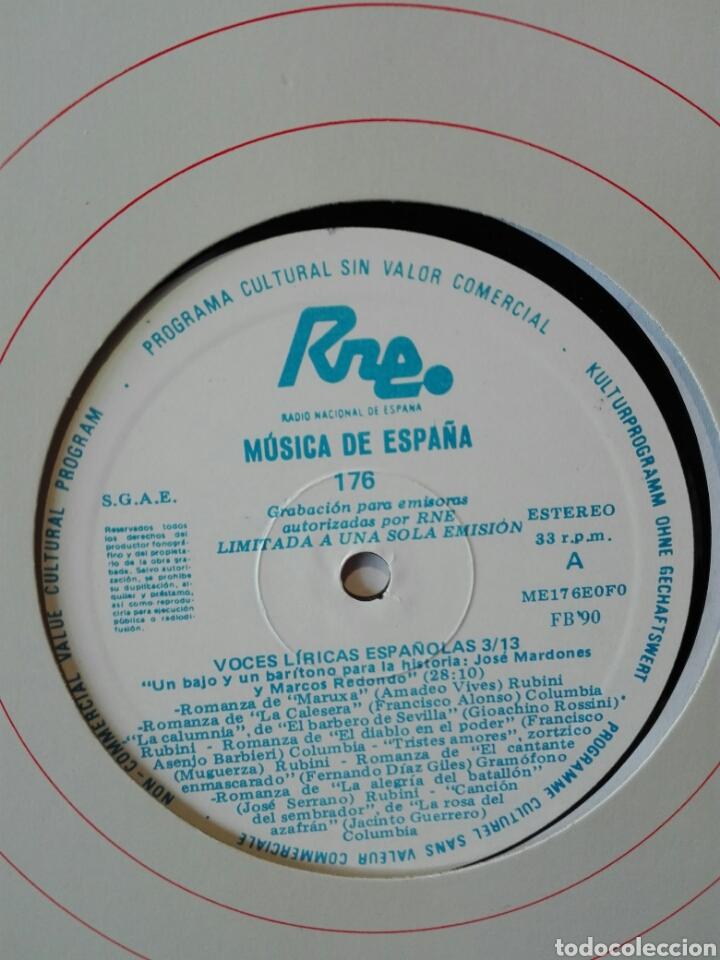 Discos de vinilo: Voces líricas españolas. 13 lp.LP TRANSCRIPCIONES DE RNE CON MÚSICA DE ESPAÑA. 1990. Ópera. Zarzuela - Foto 7 - 198944067