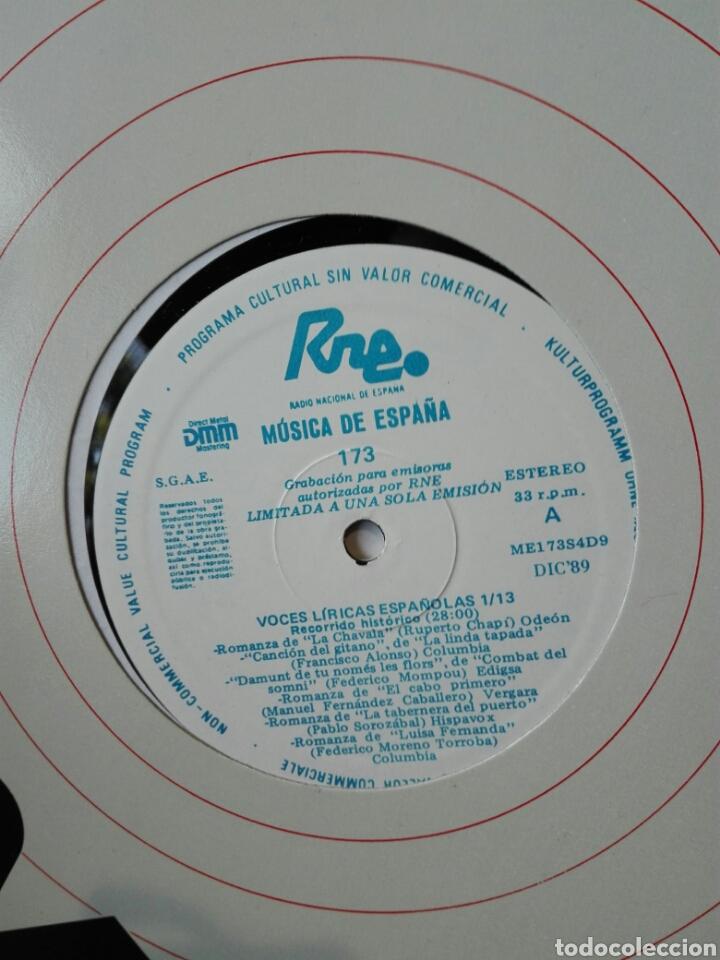 VOCES LÍRICAS ESPAÑOLAS. 13 LP.LP TRANSCRIPCIONES DE RNE CON MÚSICA DE ESPAÑA. 1990. ÓPERA. ZARZUELA (Música - Discos - LP Vinilo - Clásica, Ópera, Zarzuela y Marchas)