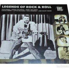 Discos de vinilo: V721 - LEGENDS OF ROCK & ROLL. RECOPILATORIO. LP VINILO NUEVO PRECINTADO. Lote 198950055