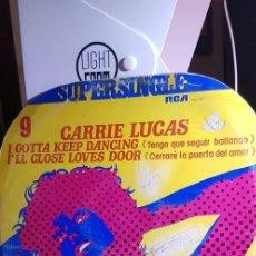 Discos de vinilo: CARRIE LUCAS 'I GOTTA KEEP DANCING' RCA 1977 MAXI. Lote 198950073